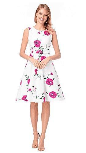 Nuevo Vestido Colección Primavera Primavera Mujer Vestido 2020 Retro Estampado Clásico Una Chicos Palabra Explosión De Rock