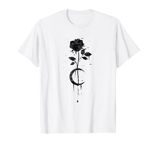 Occult Vintage Moon Rose Witchcraft Okkult Hexe Gothic T-Shirt