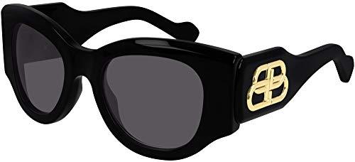 Balenciaga Gafas de Sol BB0070S BLACK/GREY 50/22/135 mujer