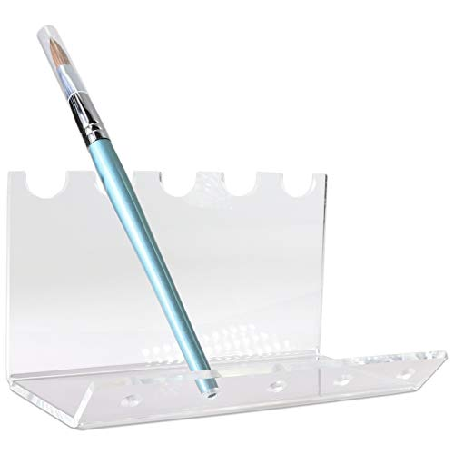 Beauticom New 5-Slots Premium Clear Acrylic for Pen, Makeup Brush, E-Cigarette, Vapor, Pencil Display Stand. Premium Quality & Duarable. Suitable for Home, Office, Store Display Usage. Photo #3