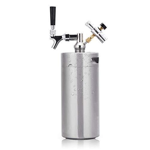 """""""N/A"""" Sistema di barili di Birra: Rubinetto in Acciaio Inossidabile, Kit Mini erogatore Portatile con regolatore di CO2 per Birra Artigianale, Birra alla Spina e Birra Fatta in casa(Size:5L)"""