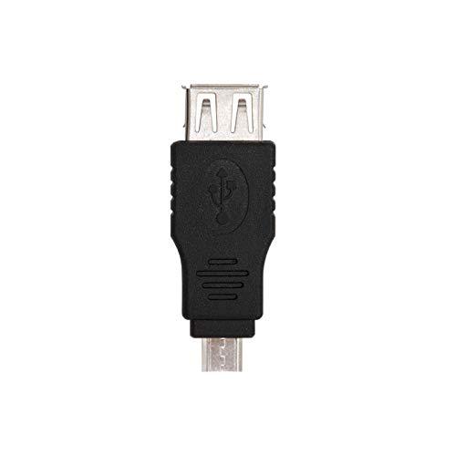 NANOCABLE 10.02.0004 - Adaptador USB 2.0 a Micro USB, Tipo A/H-Micro B/M, Hembra-Macho, Negro