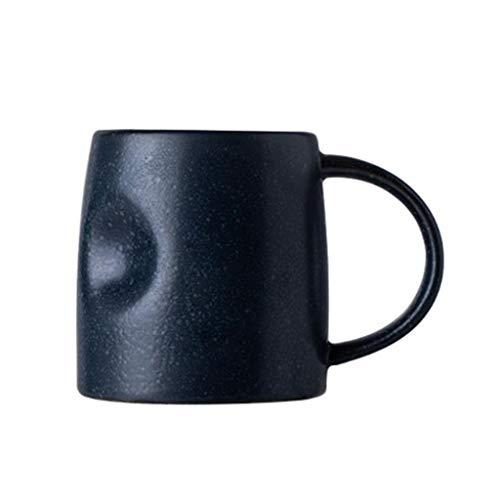 Tasses à café Tasse de café Tasse de café tasse de thé en céramique tasse à café créative ventre tasse tasse d'eau Hommes et femmes Céramique Coupe grande capacité de tasse de café Petit déjeuner Coup