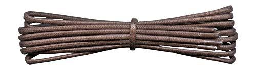 2 mm Runde gewachste Baumwollschnürsenkel - 45 bis 120 cm Länge - 16 Farben - Dünne Schnürsenkel für Abendschuhe und Stiefel