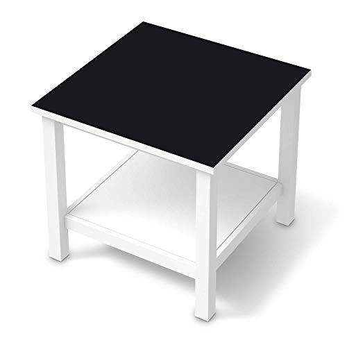 creatisto Möbel-Folie passend für IKEA Hemnes Beistelltisch 55x55 cm I Möbelfolie - Möbel-Tattoo Sticker Aufkleber I Deko Ideen Wohnung für Esszimmer und Wohnzimmer - Design: Schwarz