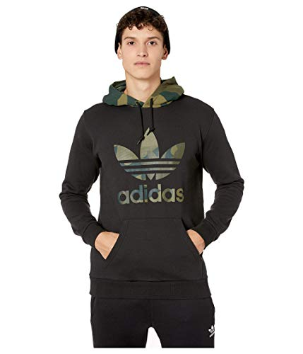 adidas Originals Men's Camo Other Hoodie Sweatshirt, Black/Multicolor, M