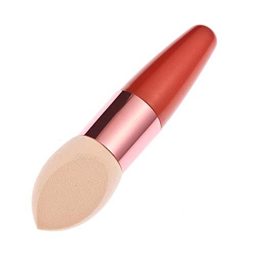 RoMantic 3PC femmes Blush Brush Cosmetic Fondation Liquide Crème Correcteur Éponge Lollipop Forme (Red)