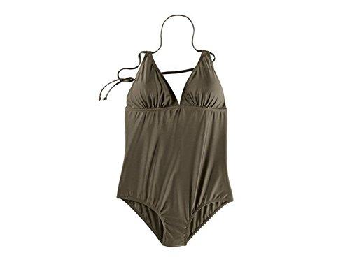 Esmara Damen Badeanzug Schwimmanzug Bademode Bikini Bodyformer (40, Khaki)