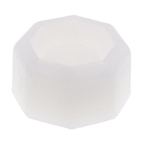 D dolity octogonal forma silicona forma planta Maceta silicona forma pastel, Molde para hornear, joyas hacen, portavelas hacen, jabón Fabricación
