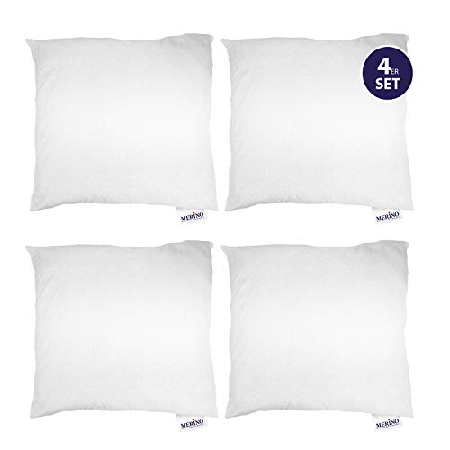Merino-Betten 4er Set Kissen 50x50 | Kopfkissen | Sofakissen | Füllkissen mit Reißverschluss (weitere verfügar)