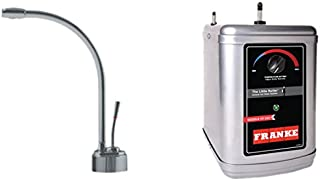 Franke LB9180-3HT Logik Little Butler Under Sink 1300W Heat Tank Faucet Kit, 9.5 x 17.25 x 14.5, Satin Nickel