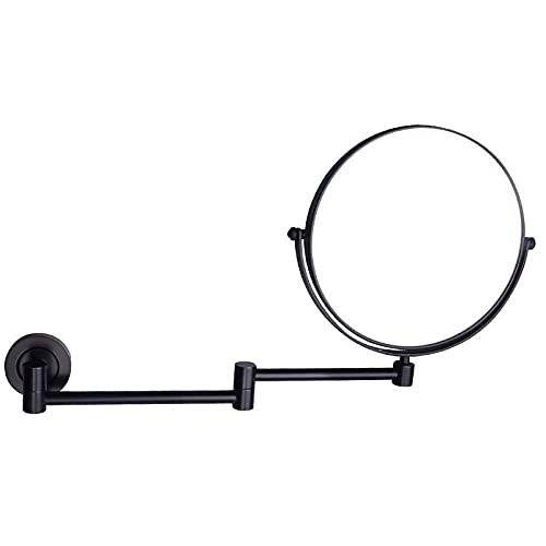 NHLBD LIHAIHAI Beautiful Fashion Eitelkeitsspiegel 360 Rotierender Kosmetikspiegel doppelseitig ausziehbarer runder Rasur im Schlafzimmer