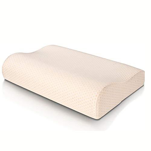 XDXDO Cuscino in Schiuma di Memoria, Contorno Confortevole Adatto per Il Sonno, cervicale Vertebra Mobile pilowcase ipoallergenico 60x30cm Bianco,60x40