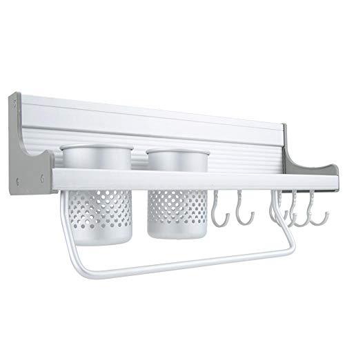Étagère de rangement de cuisine, espace mural en aluminium étagère de rangement de cuisine étagère porte-organisateur pour salle de bain à la maison