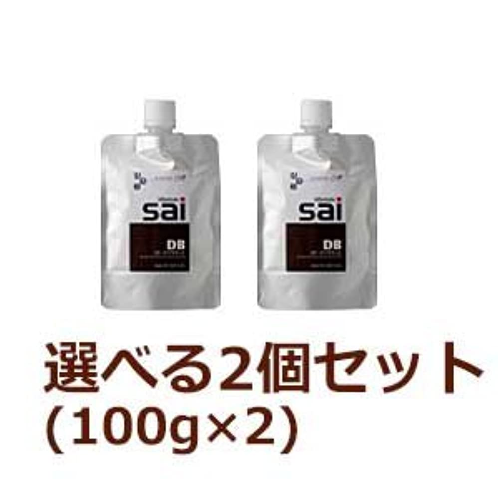 偏心思想キリン【2個セット】 エムズ ハーブカラートリートメント彩 sai 100g (DB(ダークブラウン) 2個セット)