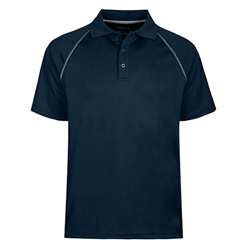MOHEEN Herren Kurzarm Feuchtigkeit Wicking Leistung Golf-Polo-Hemd 3XL (Chest 56