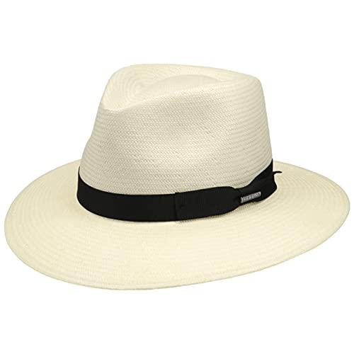 Stetson Traveller Toyo Tokeen Hombre - Sombrero de Paja Sol Outdoor con Banda Grosgrain Primavera/Verano - S (54-55 cm) Natural