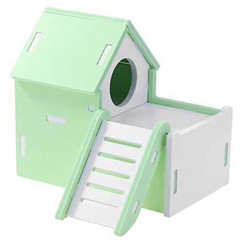 KunLS Casita para Animal Doméstico Hamster Casa Hamster Accesorios Juguetes para Hamsters...