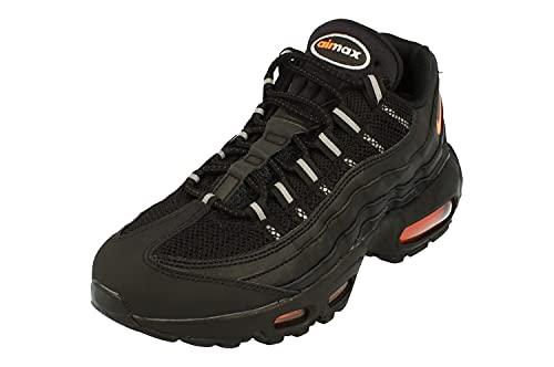 Nike Air MAX 95 Essential Hombre Running Trainers DJ6884 Sneakers Zapatos (UK 5.5 US 6 EU 38.5, Black Total Orange 001)