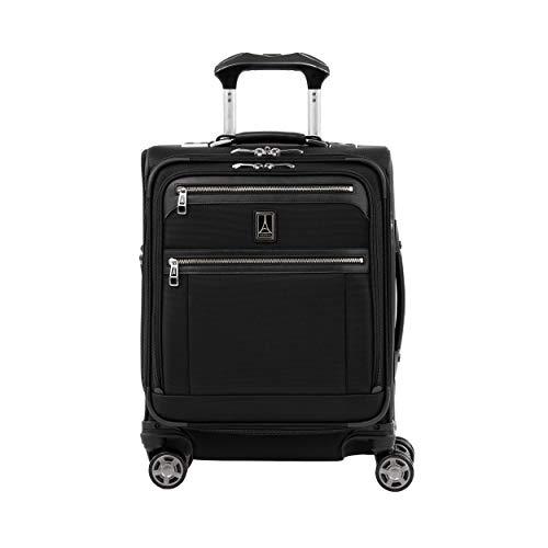 Travelpro Platinum Elite Maleta Cabina 4 Ruedas 55x40x20 cm Blanda, Expansible y Resistente con Puerto USB 39 litros Ruedas 360 Magnéticas Equipaje Viaje Avión Color Negro Garantía 10 Años