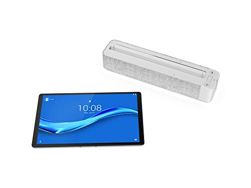 Lenovo Smart Tab M10 Full HD Plus mit Amazon Alexa 26,18 cm (10,3 Zoll, 1920x1200, Full HD, WideView, Touch) Tablet-PC (Octa-Core, 2GB RAM, 32GB eMCP, Wi-Fi, Android 9) silber mit Smart Dock