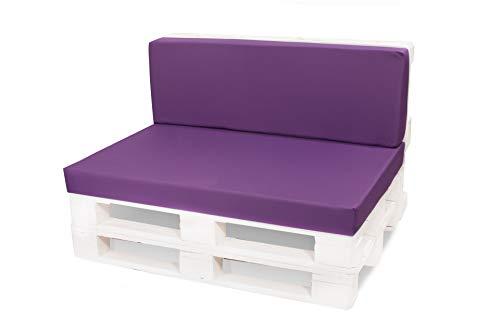 Coussin de siège pour Palette, Jardin, Yacht, pub, Coussin de siège, rotin, Caravane en extérieur 120 x 60 cm 15 Couleurs Violet