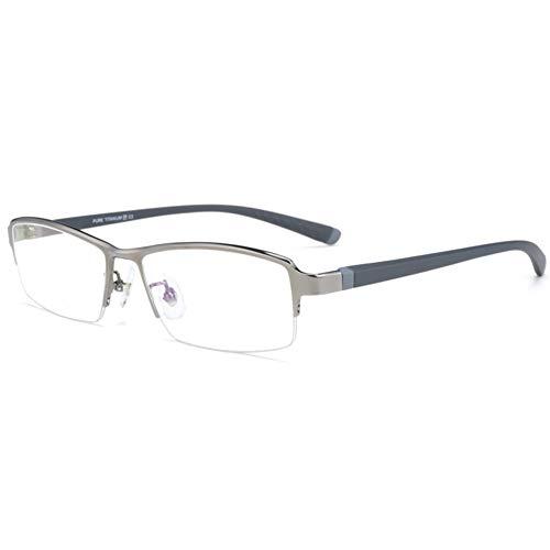 HQMGLASSES Gafas de Lectura Anti-Azul de Titanio Pure Titani