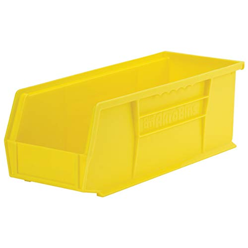 Akro-Mils 30234 Plastic Storage Stacking Hanging Akro Bin, 15-Inch by 5-Inch by 5-Inch, Yellow, Case of 12