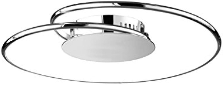 WOFI 9424.01.01.6450 A, Deckenleuchte, Metall, 16 watts, Integriert, Chrom, 45 x 45 x 13 cm