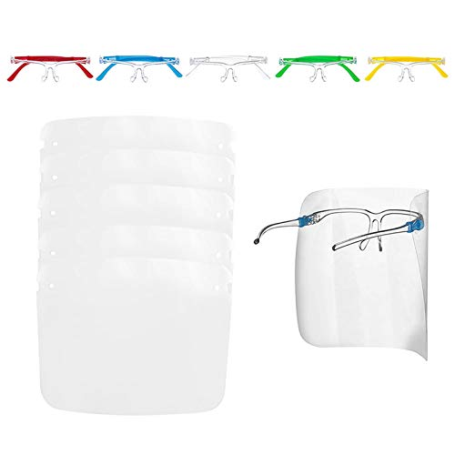 JSPOYOU 5PC Kids Safety Anti-Fog Face Guard Anti-Saliva Safety Protection Glasses 5PC