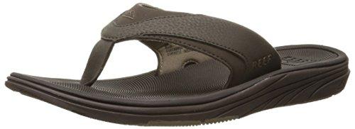 Reef Men's Sandals Modern | Arch Support Flip Flops for Men | Brown | Size 14