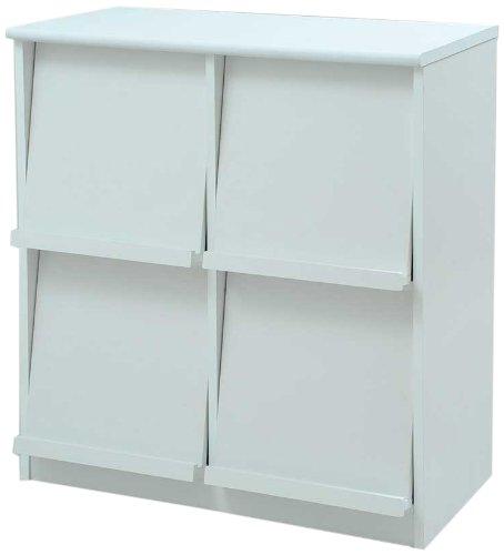 Frama Furniture(フラマファニチャー) 低ホルムアルデヒド ディスプレイラック扉2列2段タイプ ホワイト KSS-0024WH