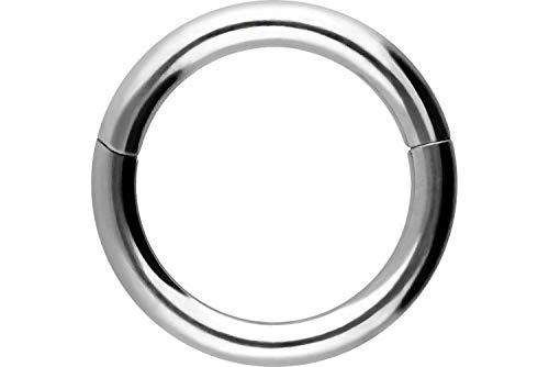 PIERCINGLINE Segmentring Clicker | Titan | Piercing Septum Nase Ohr Tragus Helix | Farb & Größenauswahl