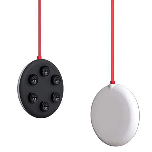 EElabper Teléfono inalámbrico de Carga del cojín del lechón del Soporte del Muelle de Carga rápida Mini portátil 15w Compatibale con iPhone Samsung Negro