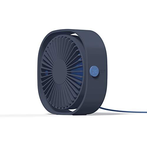 Decdeal Mini Ventilador de Escritorio Silencioso,Ventilador Portátil Giratorio de 360 °,Ventilador de Rotación con Alimentación USB,para Viaje/Camping/Oficina/Hogar