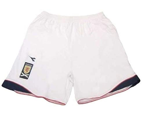 Diadora Scotland Home - Pantalones Cortos, Color Blanco, tamaño MB 9-10 Years