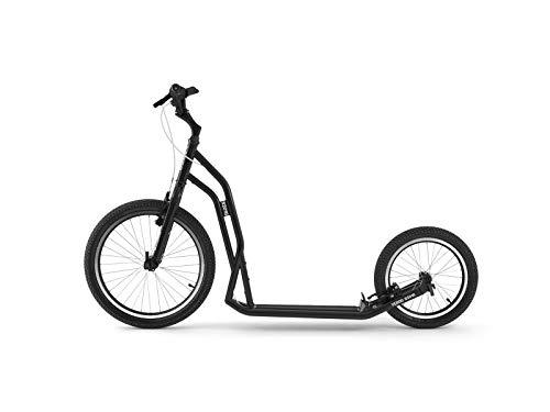 Yedoo S2016 Tretroller - bis 150 kg, Kickscooter mit Luftreifen 20/16 - für Erwachsene, Scooter Roller mit verstellbare Lenker, Dogscooter (schwarz)