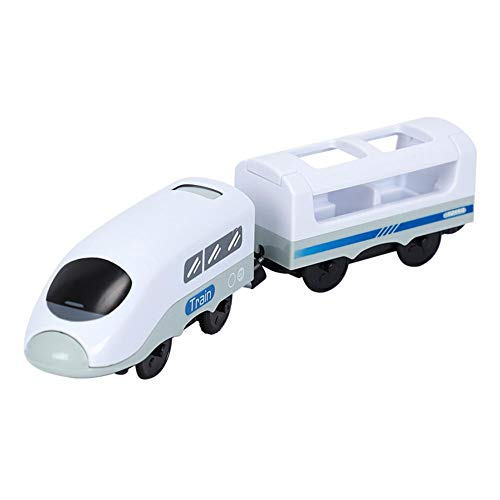 Neckip Ferrocarril eléctrico para rieles de madera, tren eléctrico, tren de madera,...