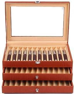 Maestrorelojero Vitrina colección para 36 estilográficas PU (Orange)