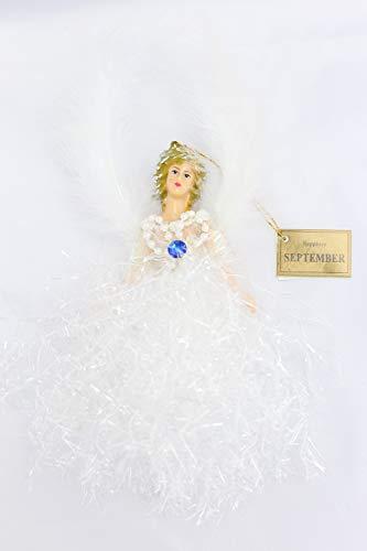September Sapphire Birthstone Angel Hanging Ornaments
