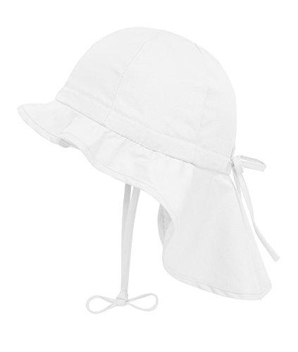 Döll Mädchen Sonnenhut Nackenschutz UV-Schutz 30 75335, Weiß (bright White 1000), 51