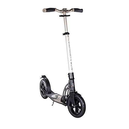 authentic sports & toys Six Degrees Scooter Aluminium AIR, 205 mm, Gold/schwarz (1 Stück)