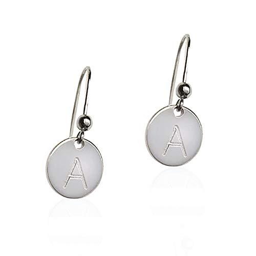 Oorbellen van 925 zilver met initialen