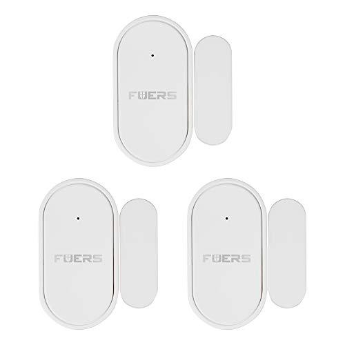 FUERS Alarma de Puerta, Sensor de Puerta de para la Seguridad del hogar y de los niños, Alarma de Puerta de Ventana antirrobo inalámbrica para el hogar/Piscina/Garaje/apartamento (Paquete de 3)