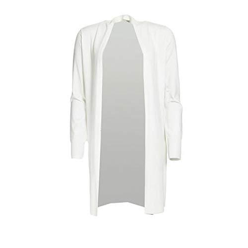 Morgan Gilet Long Uni MCAPS Chaqueta de Punto, Off White, TS para Mujer