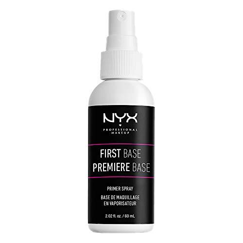 NYX Professional Makeup Primer en spray de efecto rápido First Base para todo tipo de pieles, Translúcido, 60 ml