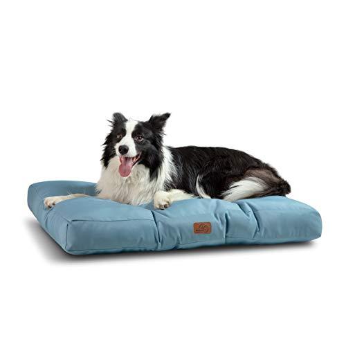 Bedsure Hundekissen für Große Hunde Wasserdicht XXL 110 x 90 cm - Gepolstert Hundematte Hundebett Waschbar Outdoor Geeignet Blau