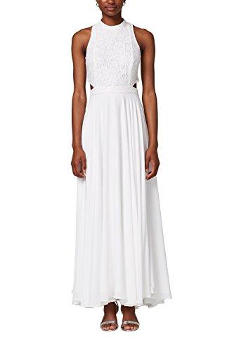 ESPRIT Collection Damen 028EO1E040 Partykleid, Weiß (Off White 110), 40