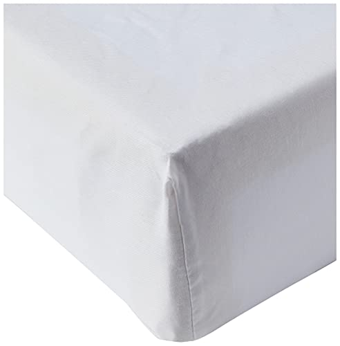 Amazon Basics AB 200TC Poly Cotton, Miscela di Cotone, Bianco, 180 x 200 x 30 cm