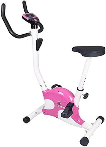 Bicicleta estática Deportes Interior de Bicicleta con Pedal de Pantalla LED Equipo de Entrenamiento de pérdida de Peso para Brazo y Pierna MWSOZ (Color: Azul)-Rosado